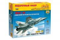 """Подарунковий набір зі збірною моделлю літака """"МіГ-31"""" (Zvezda 7229) 1/72"""