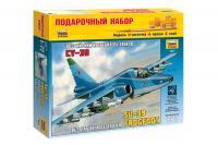 Подарунковий набір зі збірною моделлю літака Су-39 (Zvezda 7217) 1/72
