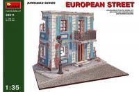 Сборная модель - European street - Фрагмент европейской улицы (MiniArt 36011) 1/35