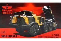 Сборная модель - Советская реактивная система залпового огня 9К57 «Ураган» (Armada Hobby E72022) 1/72