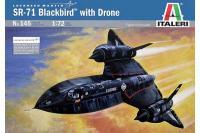 Сборная модель - Разведчик SR-71 «Blackbird» (Italeri 0145) 1/72