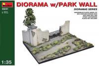 Сборная модель - Diorama with Park Wall - Диорама с парковой стеной (MiniArt 36051) 1/35