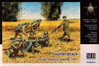 """Сборные фигуры - """"Контратака"""". Советская пехота,, лето 1941 (Master Box 3563) 1/35"""