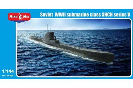 """Советская подводная лодка серии V - """"Щука"""" (Micro-Mir 144-005) 1/144"""