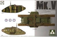 Сборная модель - Mark Mk.V,, британский танк (3 в 1 ) (Takom 2034) 1/35