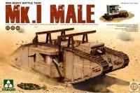 Сборная модель - Mk.I Male танк с прицепом (Takom 2031) 1/35