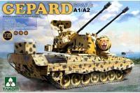 Сборная модель - SPAAG Gepard A1/A2 Bundeswehr Flakpanzer германская ЗСУ (Takom 2044) 1/35