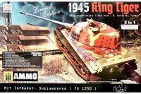 Сборная модель - Королевский Тигр / King Tiger Pz.Kpfw.VI Ausf.B Henschel Turret 1945,, Limited Edition 2 in 1 (Takom 2089) 1/35
