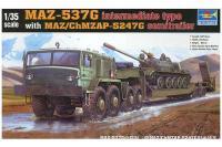 МАЗ-537 с прицепом (Trumpeter 00211) 1/35