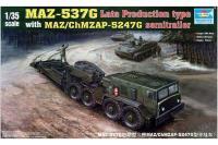 МАЗ-537 с прицепом ЧМЗ АП-52 (Trumpeter 00212) 1/35