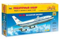 Подарунковий набір зі збірною моделлю літака Іл-86 (Zvezda 7001) 1/144