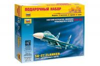 Подарунковий набір з збірної моделлю літака СУ-27 (Zvezda 7206) 1/72