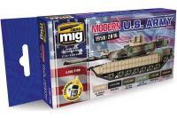 Набор акриловых красок 6 шт - Современная армия США (Ammo Mig 7159)