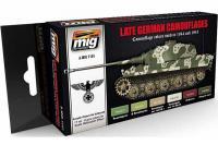 Набор акриловых красок 6 шт - Поздний немецкий камуфляж 1944-45 г. (Ammo Mig 7101)