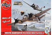 Подарочный набор со сборной моделью самолета: Bristol Beaufighter Mk.X и Focke-Wulf Fw190 - 8 (Airfix 50171) 1/72