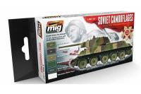 Набор акриловых красок 6 шт - Цвета камуфляжа советских танков (Ammo Mig 7107)