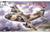 Сборная модель Военно-транспортный самолет C-123B/K Provider (Amodel 1404) 1/144