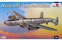 Сборная модель Транспортный самолет Avro 691 Lancastrian (Amodel 1462) 1/144