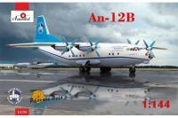 Сборная модель - транспортный самолет Антонов Ан-12Б (AMODEL 1470) 1/144