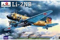 Сборная модель - Ли-2НБ ночной бомбардировщик (Amodel 72231) 1/72
