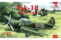 """Сборная модель - Як-18 """"Maesto"""" учебно-тренировочный самолет  (AMODEL 72321) 1/72"""