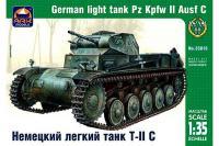 Сборная модель - Немецкий легкий танк Pz.Kpfw II Ausf.C (ARK Models  35018)1/35
