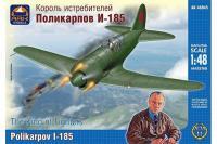 Сборная модель - истребитель Поликарпов И-185 (ARK Models 48045) 1/48