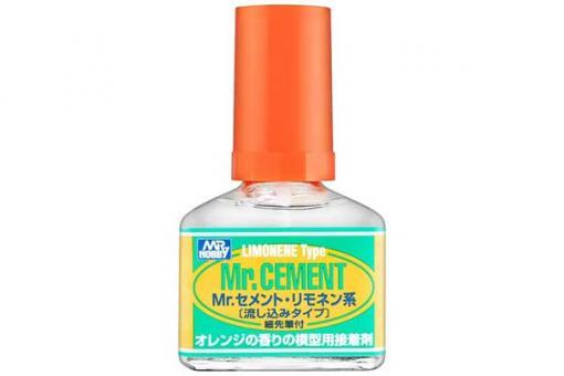 Клей для сборных моделей Mr. Cement с запахом лимона (GUNZE-MC130)