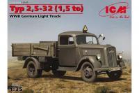 Сборная модель - Немецкий легкий грузовик Typ 2,5-32 (1,5 ton) (ICM 35401) 1/35
