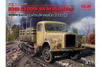 Сборная модель - Немецкий полугусеничный автомобиль KHD S3000/SS M Maultier (ICM 35453) 1/35