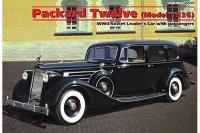 Автомобиль советского руководства Packard Twelve c пасажирами (ICM 35535) 1/35
