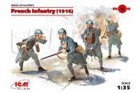 Франзузская пехота 1916 года (ICM 35691) 1/35