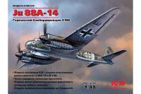 Немецкий бомбардировщик Ju 88A-14 (ICM 48234) 1/48