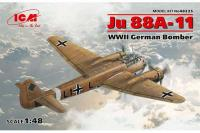 Сборная модель Немецкий бомбардировщик Ju 88A-11 (ICM 48235) 1/48