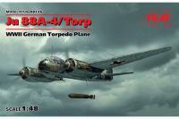 Немецкий торпедоносец Юнкерс Ju 88A-4/Torp (ICM 48236) 1/48