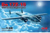 Немецкий истребитель Дорнье Do 17Z-10 (ICM 48243) 1/48
