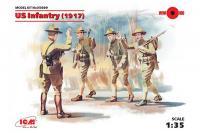 US Infantry 1917 Пехота США Первой мировой войны (ICM 35689) 1/35