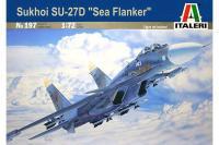 Сборная модель - Су-27 Д  истребитель  (ITALERI 0197) 1/72