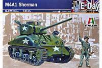 "Сборная модель - Американский танк ""Шерман"" - M4 A1 Sherman (Italeri 0225) 1/35"