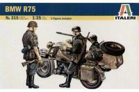 Сборная модель -  BMW R75 немецкий мотоцикл (ITALERI 0315) 1/35