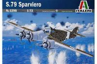 Сборная модель Итальянский бомбардировщик S.79 Sparviero (ITALERI 1290) 1/72