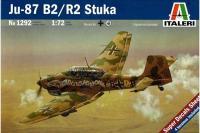 Сборная модель Немецкий бомбардировщик Ю-87 B2/R2 Штука (ITALERI 1292) 1/72