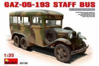 Сборная модель - Штабной автобус ГАЗ-05-193 (MiniArt 35156) 1/35
