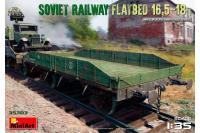 Залізнична Платформа 16,5-18т. (Mini Art 35303) 1/35