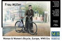 Сборная фигура - Фрау Мюллер с велосипедом, Вторая мировая война (MASTER BOX 35166) 1/35