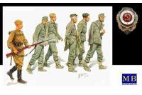 Сборные фигуры - Немецкие военнопленные 1944г. (MASTER BOX 3517) 1/35