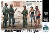 """Сборные солдатики - Вьетнамская военная серия """"Где-то в Сайгоне"""" (MASTER BOX 35185) 1/35"""