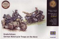 Сборная модель - Немецкий мотоциклетный взвод Kradschutzen (MASTER BOX 3548F) 1/35