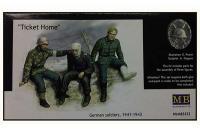 """Сборные фигуры - Немецкие солдаты 1941-1943 гг """"Билет домой"""" (MASTER BOX 3552) 1/35"""