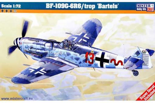 """Сборная модель Истребитель Messerschmitt Bf.109 G-6R6 """"Bartels"""" (Mister Craft C110) 1/72"""